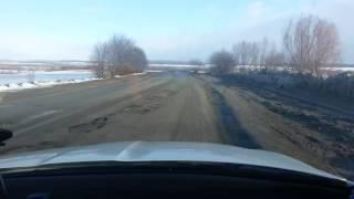 Krym, asfalt po zimie.