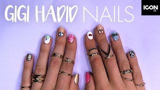 Gigi Hadid Inspired Festival Nails Tutorial