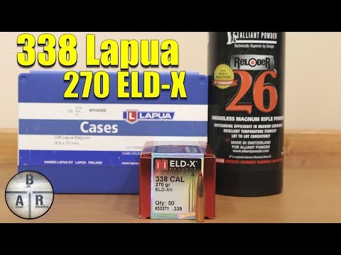 338 Lapua - Hornady 270 ELD-X and Reloder 26 Load Test - YouTube