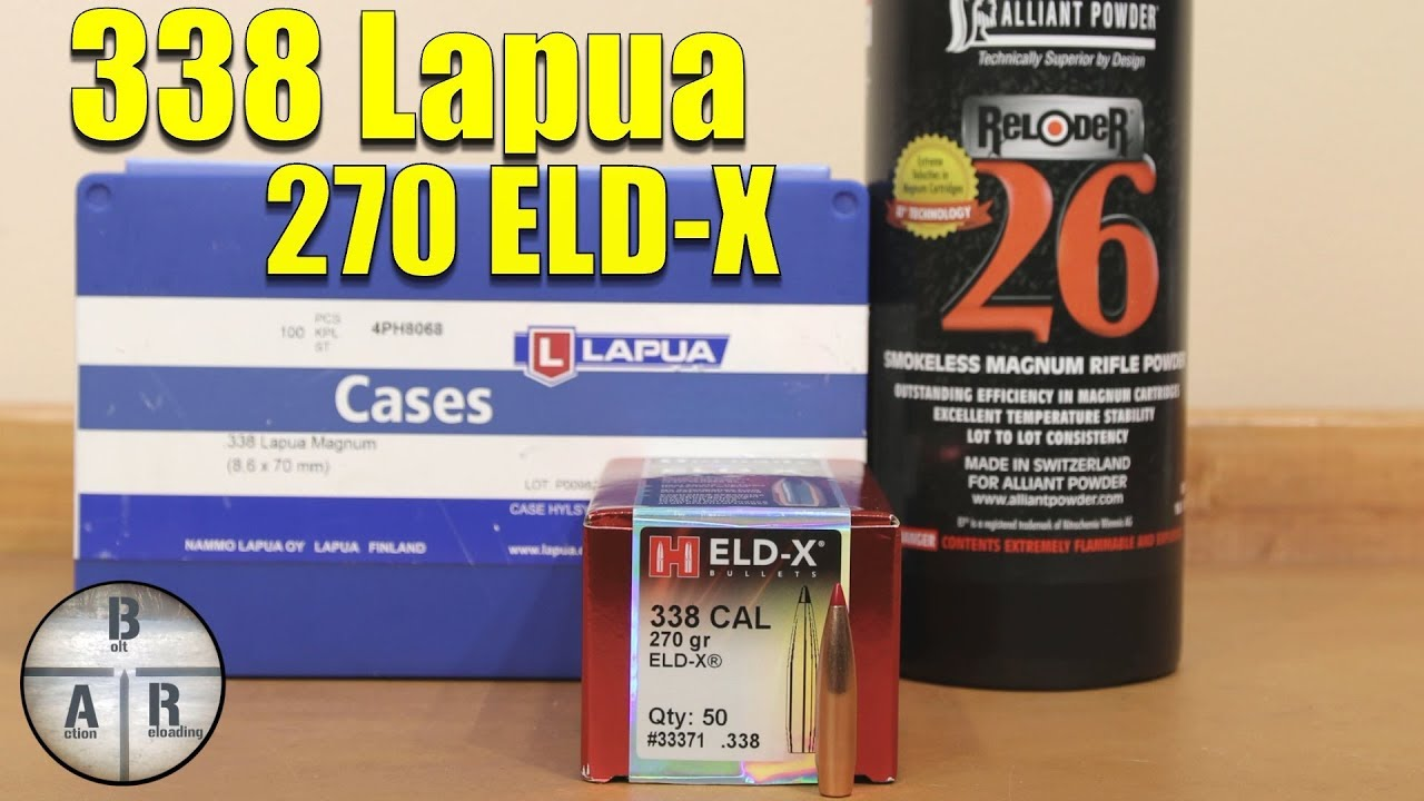 338 Lapua - Hornady 270 ELD-X and Reloder 26 Load Test