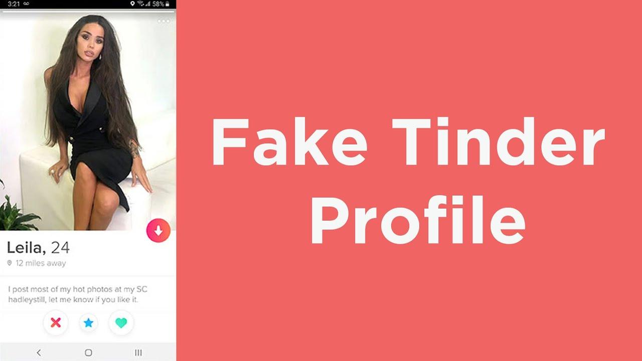 Profil tinder fake Create Fake