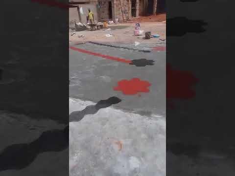 Concrete stamp flooring in Enugu,Nigeria.What's app 08 88 66752