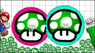 #MUSHROOMARMY - I GOT A ONE UP AND REVIVED DOUBLE (THE MOST ADDICTIVE GAME EVER - AGARIO #20)