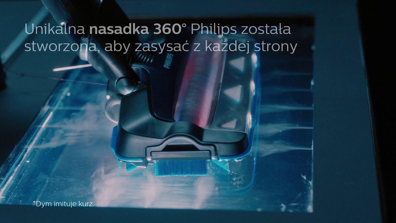 Odkurzacz bezprzewodowy Philips SpeedPro Max – jak działa nasadka ssąca 360°