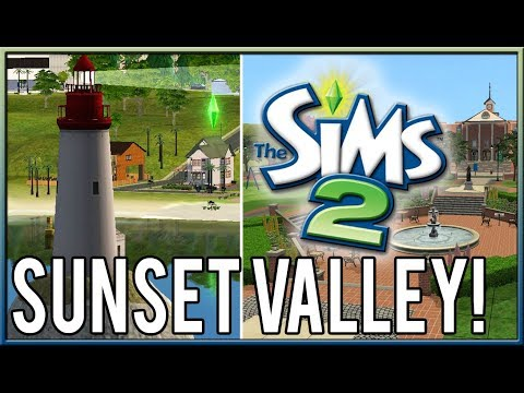 SUNSET VALLEY Remade in The Sims 2!!
