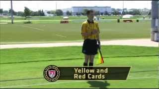 US Soccer Assistant Referee Signals