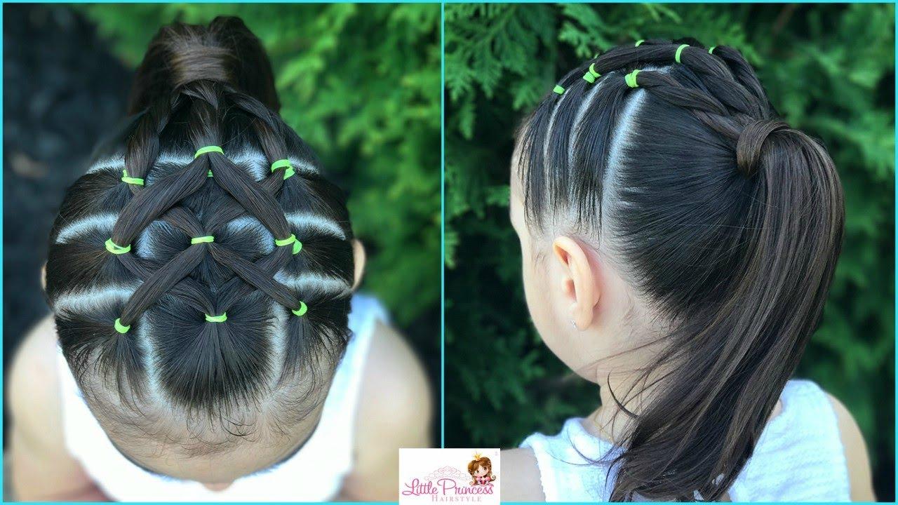 Peinado para ni a facil y rapido de hacer con ligas y - Peinados bonitos para ninas ...