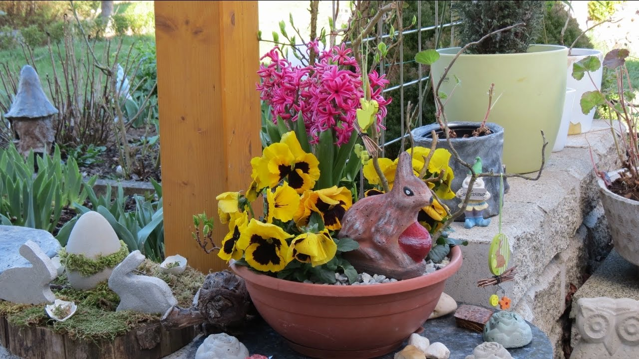 Dekoration f r ostern selber machen betonfiguren aus backformen hase youtube - Dekoration fur ostern ...