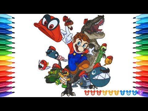 How to Draw Super Mario Odessey #221 | Drawing Coloring Pages Videos for Kids