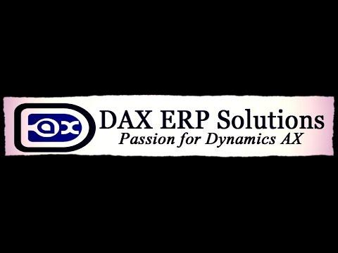 Microsoft Dynamics AX ERP Financial Online Training Excerpt