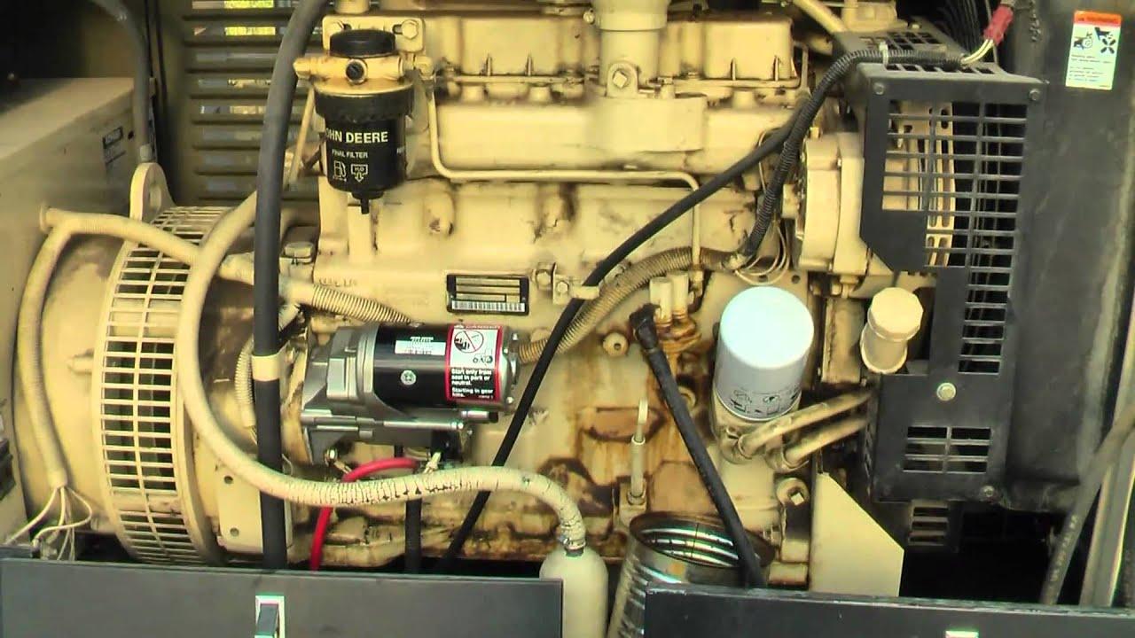 Diesel John Deere Generator Startup By Request