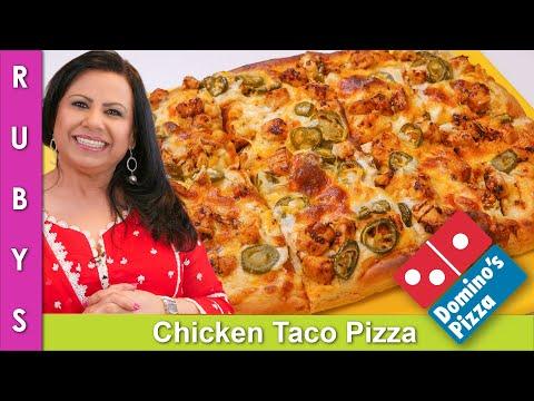 Domino's Chicken Taco Pizza Recipe in Urdu Hindi - RKK
