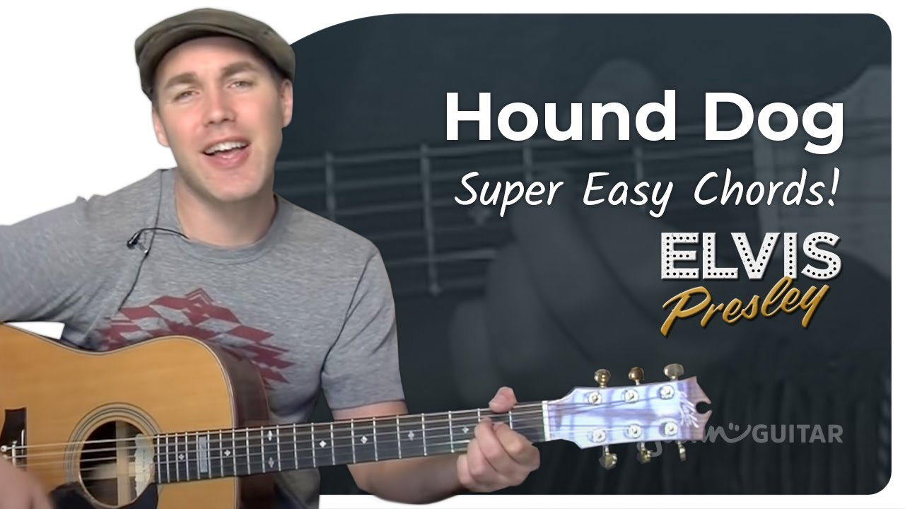 Hound Dog Elvis Very Easy Song Beginner Guitar Lesson Bs 103 How