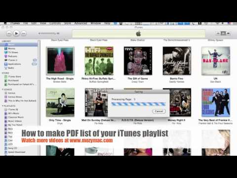 How to list you iTunes music library in PDF file.