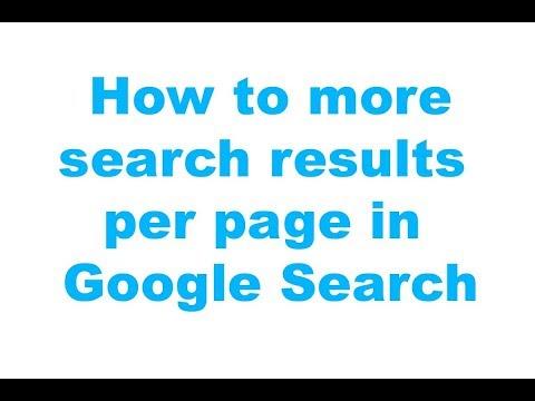Google Search කලාම එක පිටුවකට එන Search Results ප්රමාණය වැඩි කරගන්නා හැටි