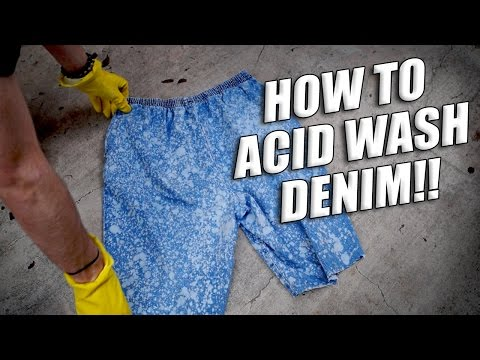 How to Acid Wash Denim Tutorial, Transforming Pants & Overalls into Flame Shorts!