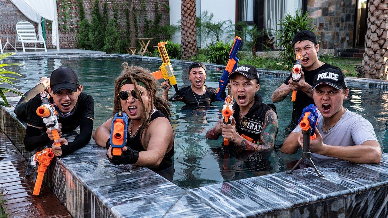 LTT Game Nerf War : Warriors SEAL X Nerf Guns Fight The Escapes Rocket Crazy