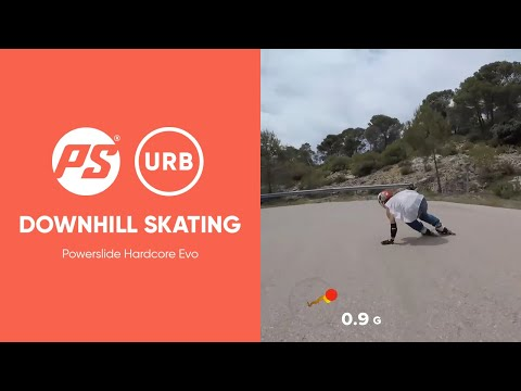Finest HARDCORE EVO Downhill skating - Powerslide Inline Skates & Ennui Protection