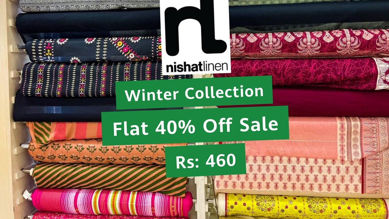 Nishat Linen Winter Collection 2021 \u0026 Flat 40% Off Sale || Freedom To Buy Collection