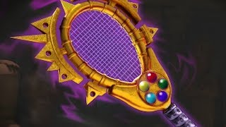 Assembling the Infinity Gauntlet by playing Tennis in Mario Tennis Aces
