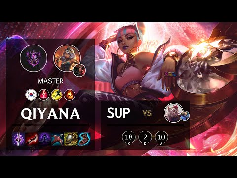 Qiyana Support vs Rakan - KR Master Patch 10.18