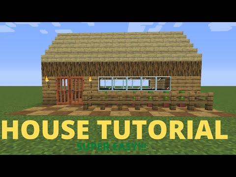 Minecraft house tutorial