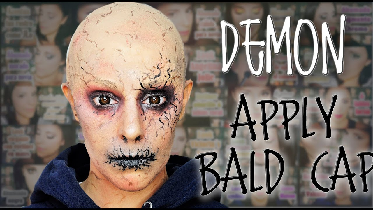 Demon makeup and how to apply bald cap FX Makeup | Silvia Quiros ...