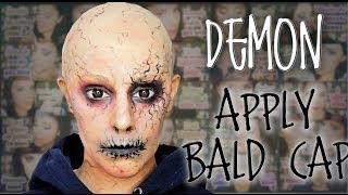 Demon makeup and how to apply bald cap FX Makeup | Silvia Quiros