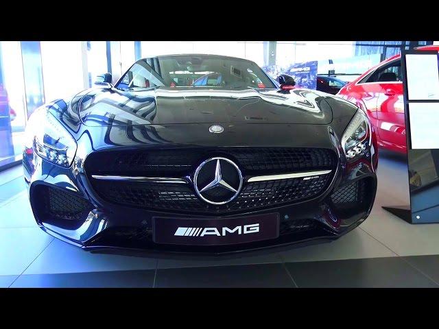 2016 Mercedes-AMG GT. Обзор (интерьер, экстерьер, двигатель).