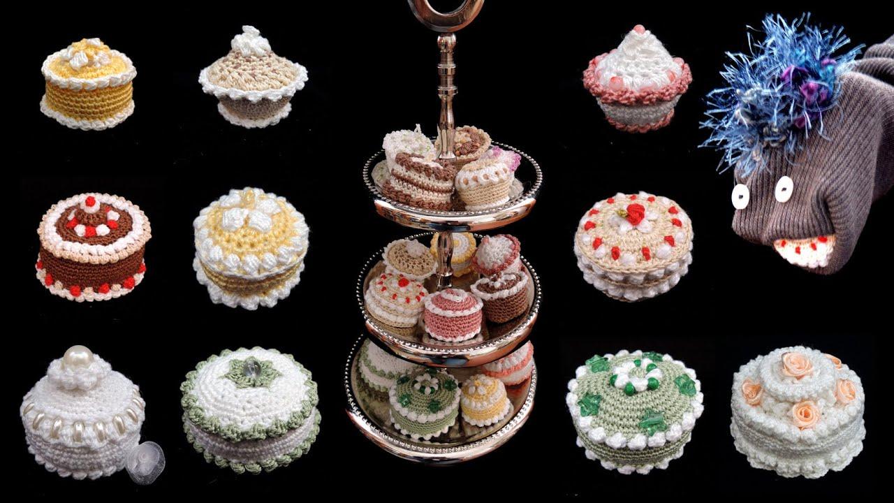 Noch Mehr Gehäkelte Törtchen Häkeln Crochet Cupcakes Youtube