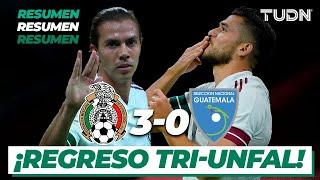 Resumen y goles | México 3-0 Guatemala | Amistoso 2020