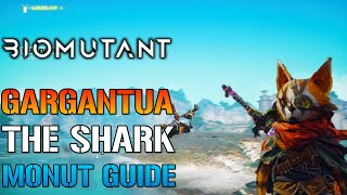 "Biomutant: How To Get The SHARK MOUNT! Called ""Pee Wee Gargantua"" (Water Mount Guide)"