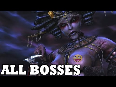 Dante's Inferno - All Bosses (With Cutscenes) HD