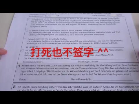 GDSK 攻略, 中国 EMS 包裹, 德国 海关 清关 DIY [Eng Sub]