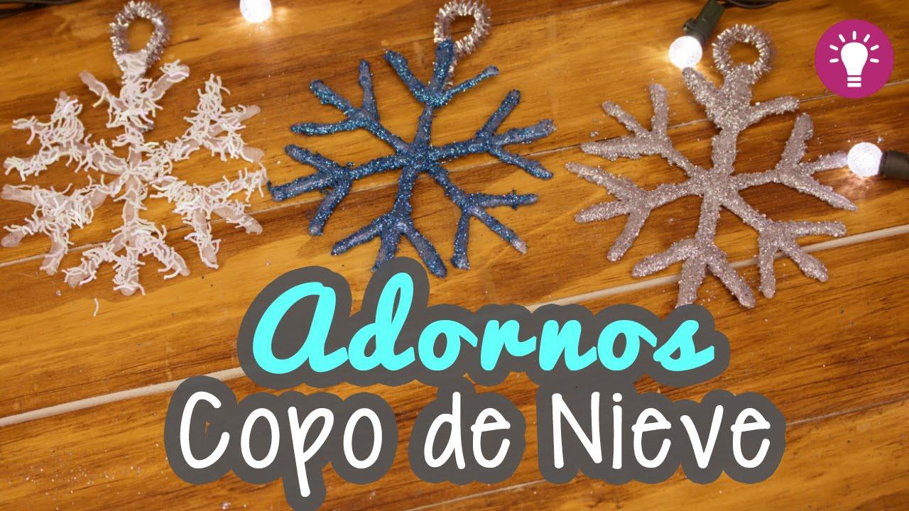 Manualidades para navidad copos de nieve con silicona - Manualidades con silicona ...