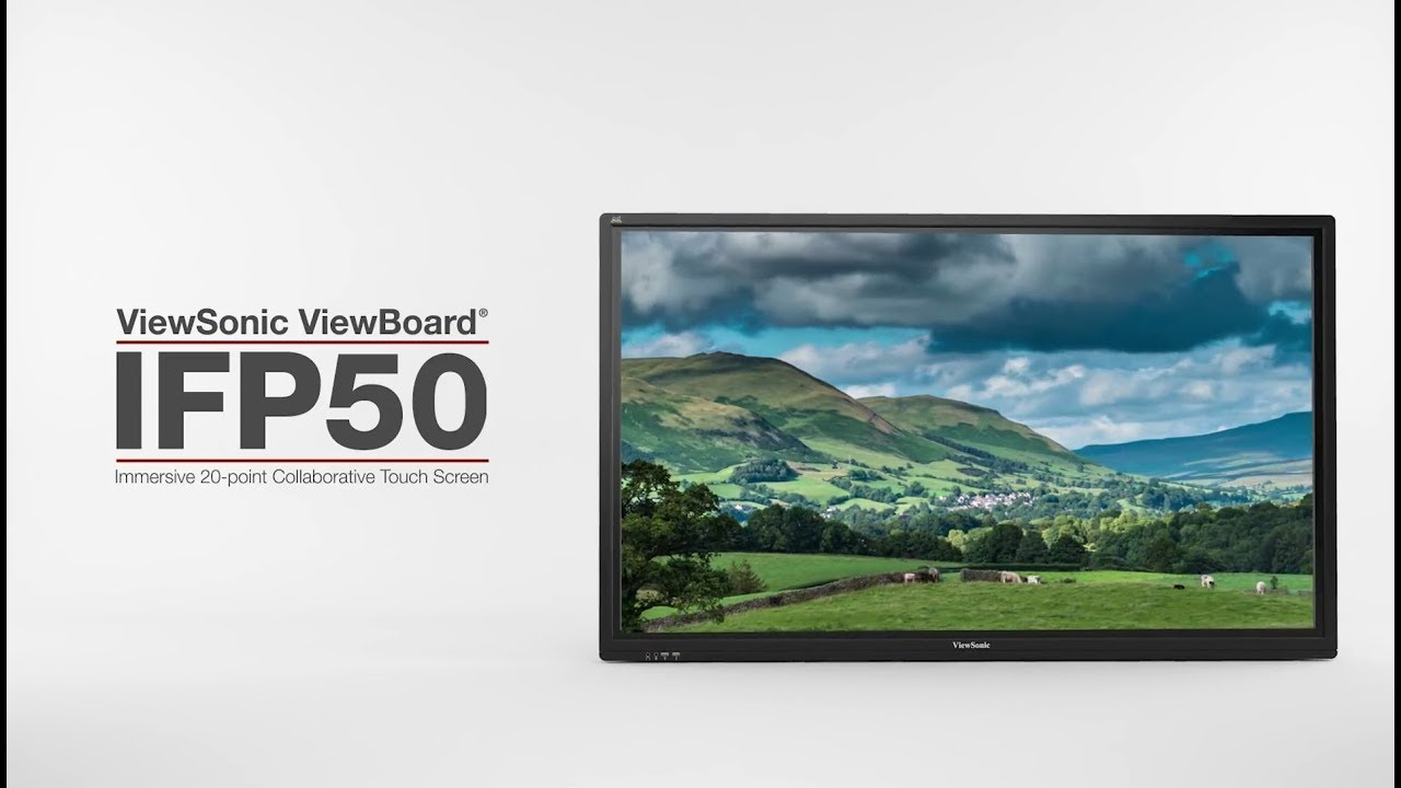 """Viewsonic ViewBoard IFP8650 86"""" 4K Interactive Touchscreen with AirPlay"""