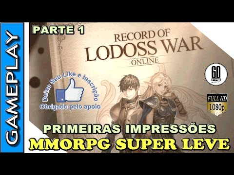 🔴 RECORD OF LODOSS WAR ONLINE GAMEPLAY - PRIMEIRAS IMPRESSÕE