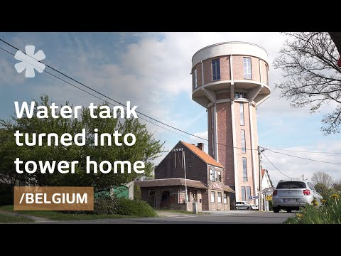 From old belgian water tank to dream tower house with a for Build your own beach house