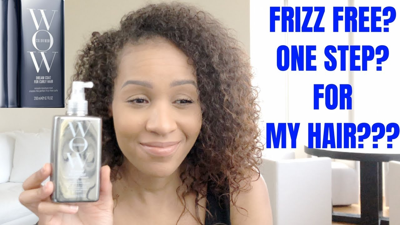 New Color Wow Dream Coat For Curly Hair Review Frizz Free Hair Frizz Free Hair Curly Hair Styles Frizz Free