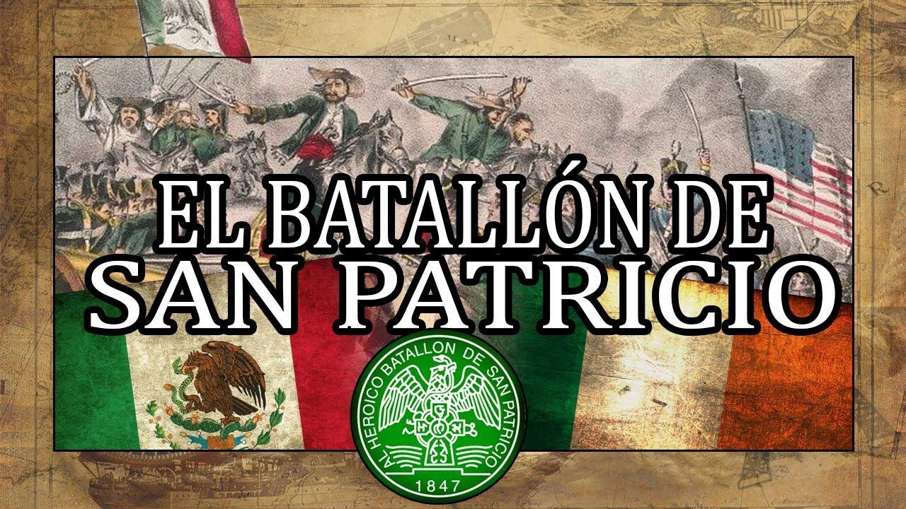 El BATALLÓN de SAN PATRICIO: IRLANDA☘️ y MÉXICO🐍🦅 VS EEUU (David Rovics - Saint Patrick's Battalion)