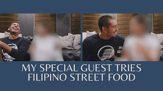 My Special Guest Tries Filipino Street Food!! | Gerald Anderson