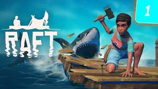 Raft Начало ! Как добывать еду и воду в РАФТ ? #1