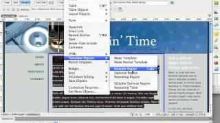 Dreamweaver CS5 - Templates Part 1