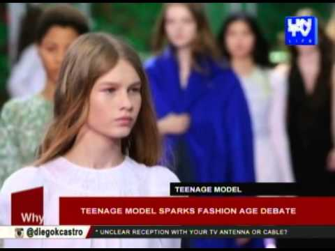 Teenage model sparks fashion age debate