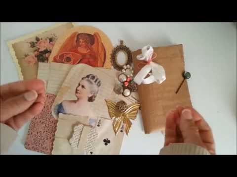 'Thank you' pack to Etsy Buyer of vintage embellie kit for junk journals