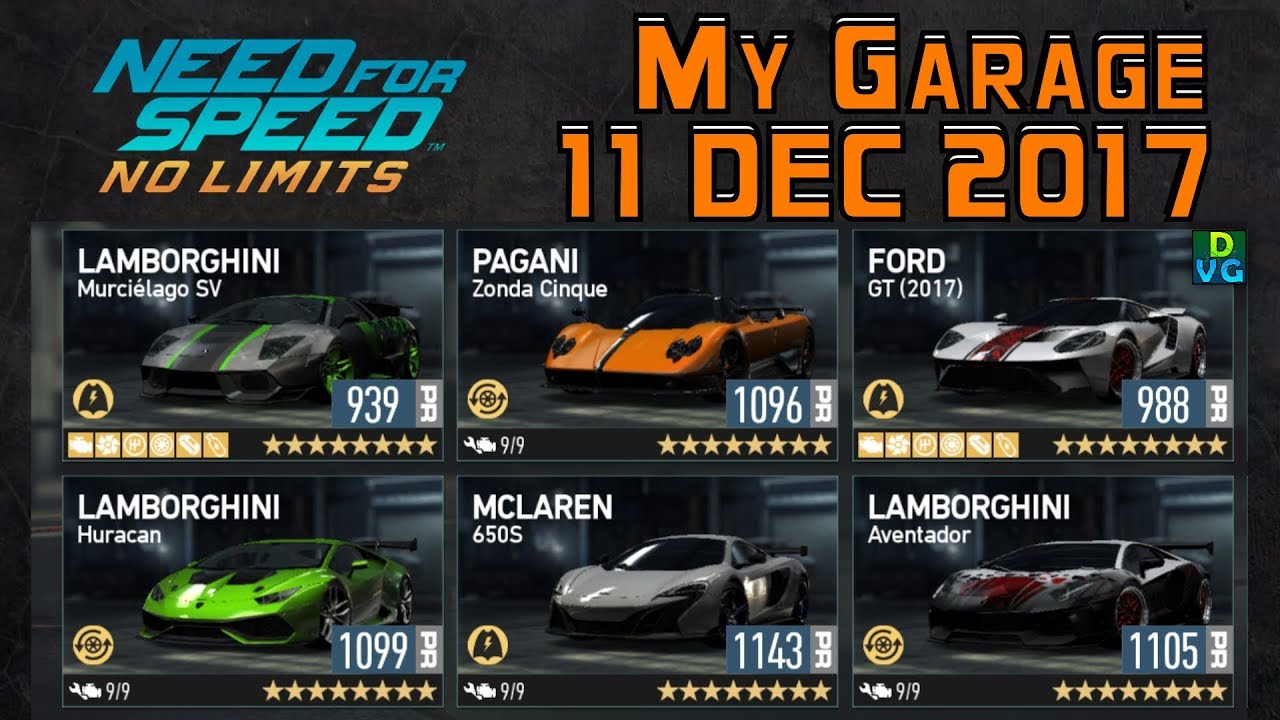 No Limits Garage : Need for speed no limits my garage december