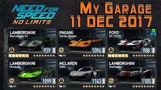 Need for Speed No Limits | My Garage - 11 December 2017 | ft. Zonda Cinque, Ford GT 2017