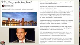 Feisty & Friends May 17, 2019   Rod Rosenstein's Speech to the Greater Baltimore Committee