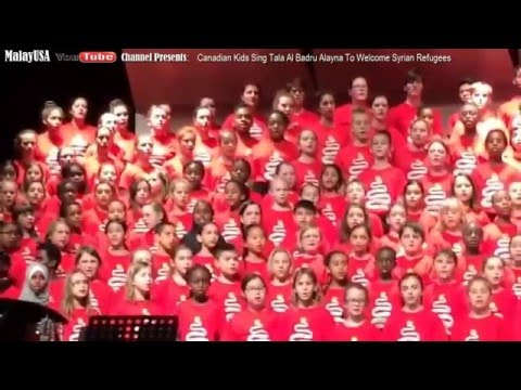 Truly Amazing! Canadian Children Welcome Syrian Refugees With Classic Islamic Song