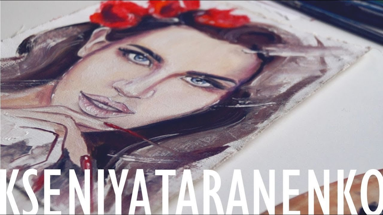 lana del rey - speed painting - YouTube